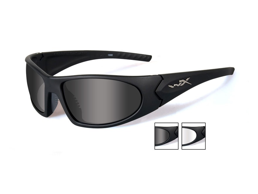 Wiley X Romer 3 Advanced Sunglasses Smoke and Clear Lenses