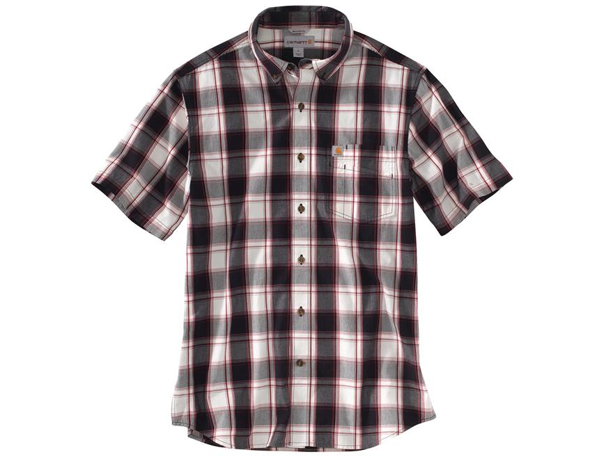 Carhartt Men's Essential Plaid Button-Up Shirt Short Sleeve Cotton
