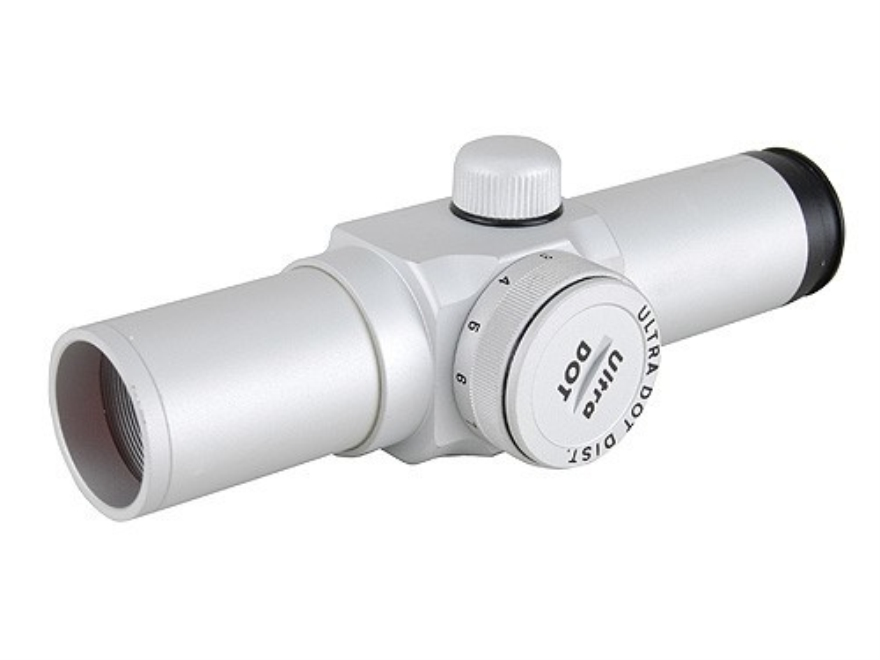 UltraDot Red Dot Sight 1x 4 MOA Dot with Weaver-Style Rings Silver