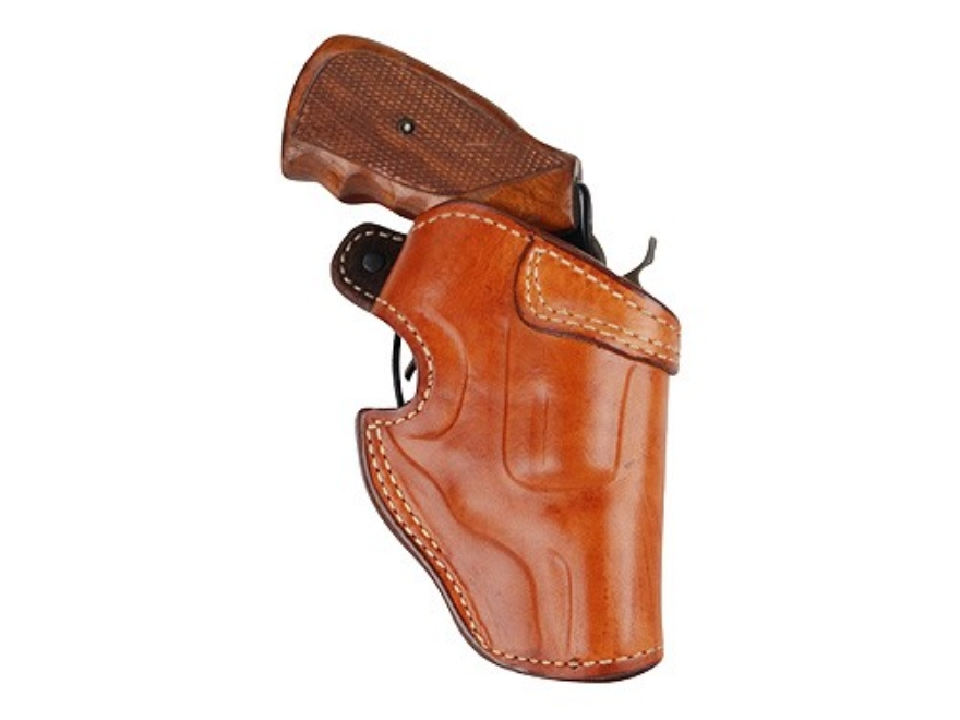 "Ross Leather Field Belt Holster Right Hand S&W J-Frame Hammerless 2.25"" Barrel Leather Tan"