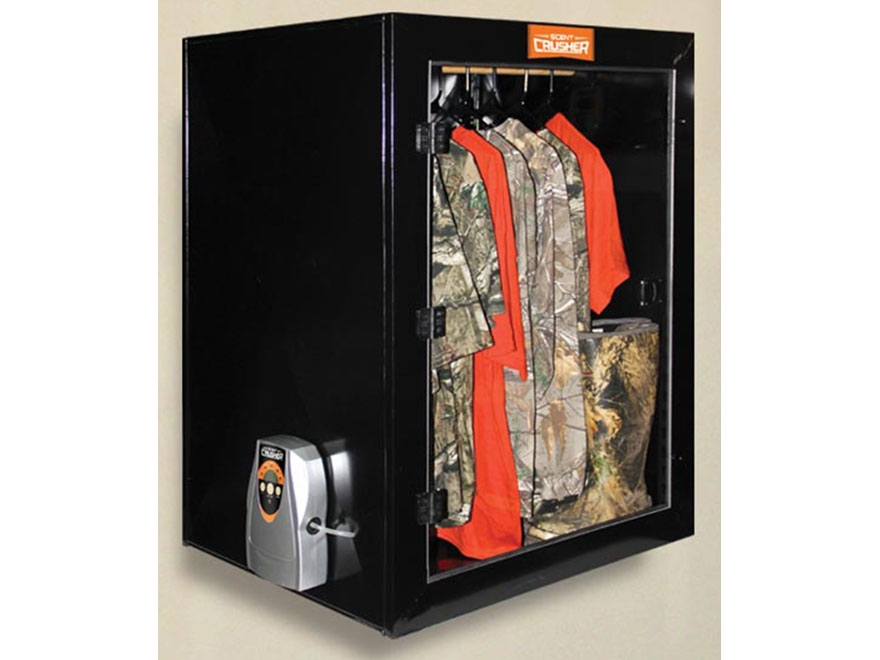 Scent Crusher Deluxe Hunter's Closet Scent Elimination Device Tan Steel Black