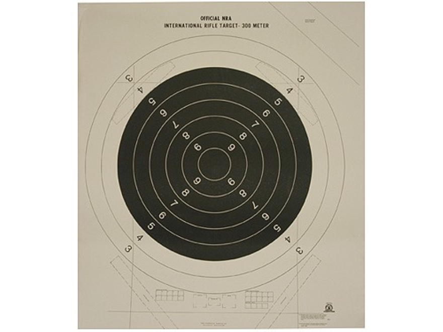 NRA Official International High Power Rifle Targets C-1 300 Meter Paper Package of 50