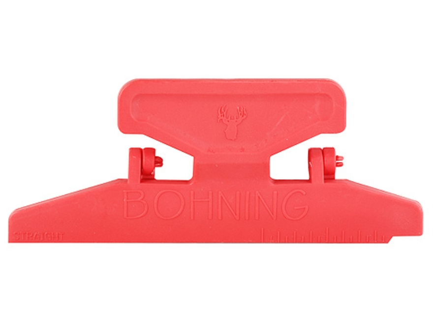 Bohning Pro Class Arrow Fletching Jig Straight Clamp Polymer Red