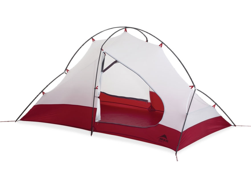 "MSR Access 2 Man Modified Dome Tent 84"" x 50"" x 42"" Nylon and Polyester Red and White"