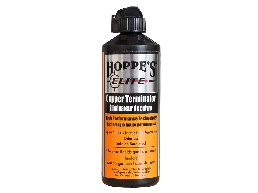 Hoppe's Elite Copper Terminator Bore Cleaning Solvent 4 oz Liquid
