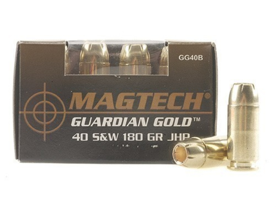 Magtech Guardian Gold Ammunition 40 S&W 180 Grain Jacketed Hollow Point Box of 20