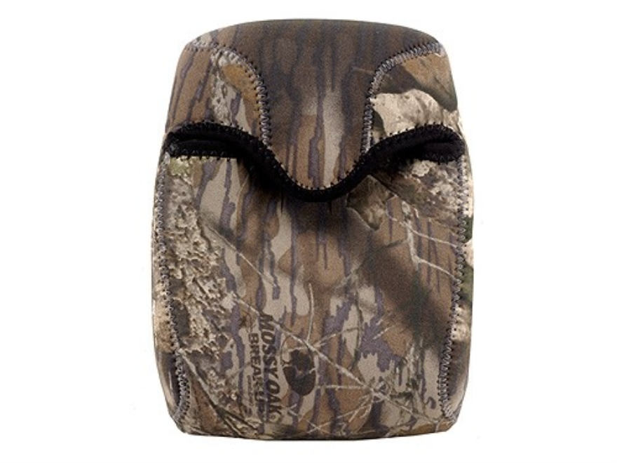 CrossTac Binocular Cover Medium Roof Prism Neoprene Reversible Black, Mossy Oak Break-U...