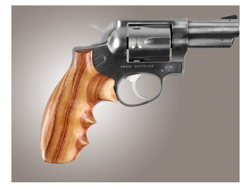 Hogue Fancy Hardwood Grips with Finger Grooves Ruger Speed Six
