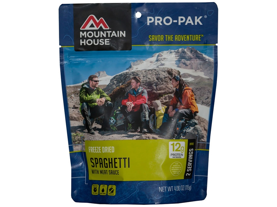 Mountain House 2 Serving Spaghetti with Meat Sauce Freeze Dried Food Pro-Pak 4.06 oz