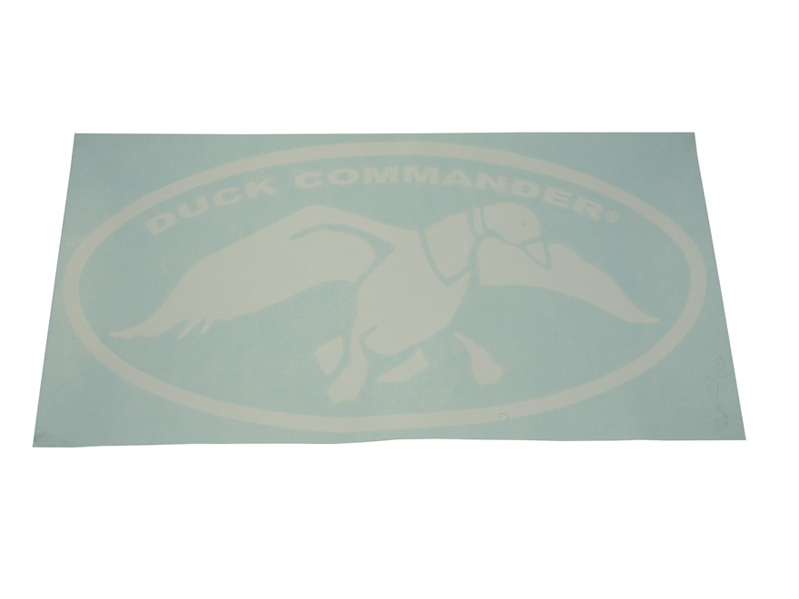 "Duck Commander Logo Decal 27"" x 13"" White"