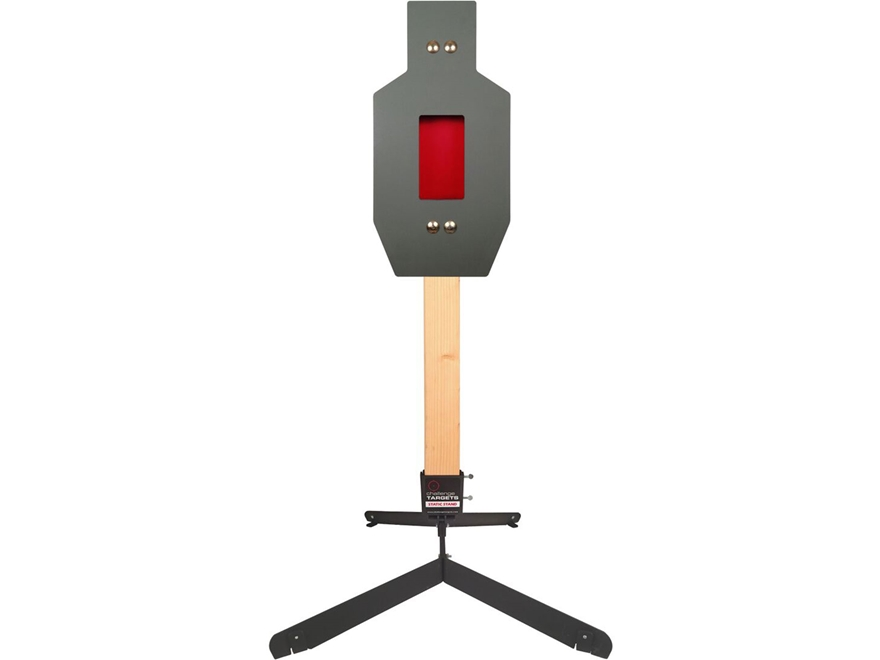 Challenge Targets Rifle IPSC A Zone Flapper Target Steel with Static Stand