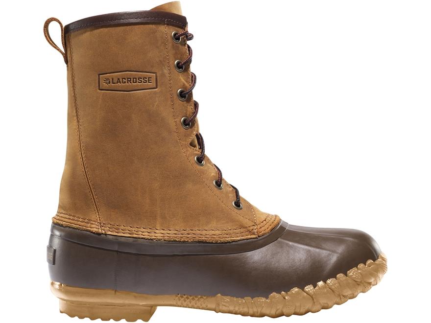 "LaCrosse Uplander II 10"" Waterproof Hunting Boots Leather/Rubber Brown Men's"