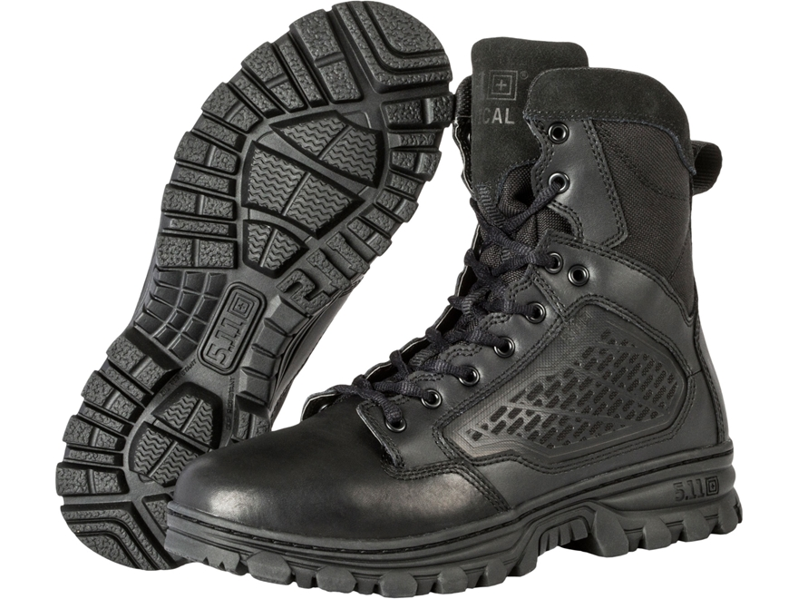 "5.11 EVO 6"" Side Zip Uninsulated Tactical Boots Leather and Nylon Black Men's"