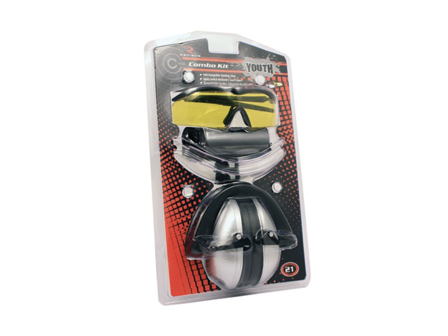 Radians Youth Combo Kit with Earmuffs and Shooting Glasses