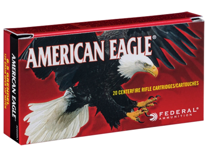 Federal American Eagle Ammunition 6.5 Grendel 120 Grain Open Tip Match