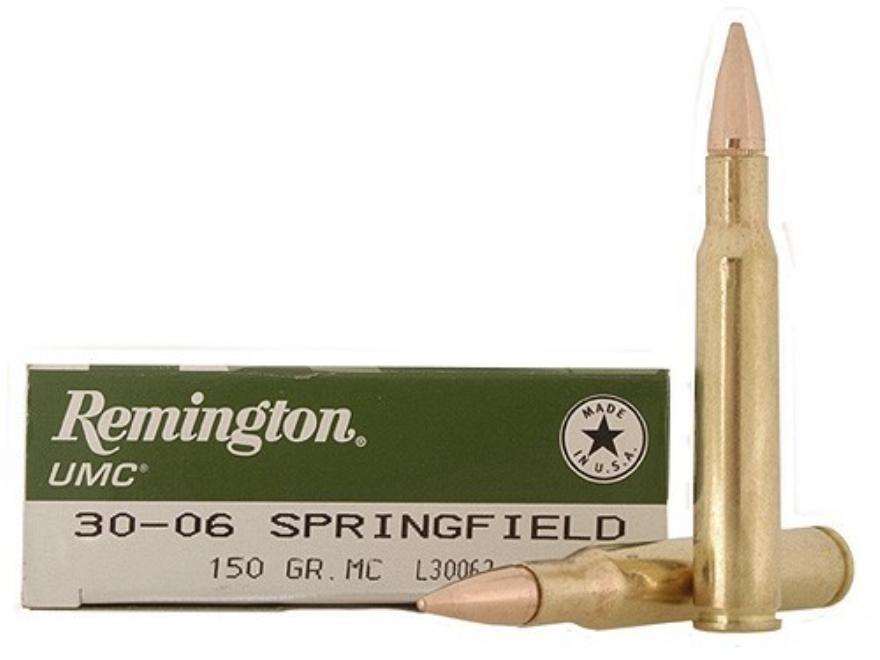 Remington UMC Ammunition 30-06 Springfield 150 Grain Full Metal Jacket