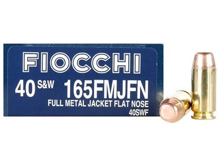 Fiocchi Shooting Dynamics Ammunition 40 S&W 165 Grain Full Metal Jacket Box of 50