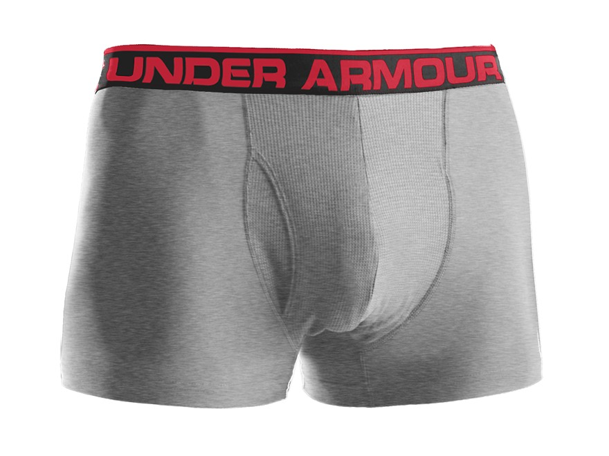 "Under Armour Men's 3"" Original BoxerJock Underwear Synthetic Blend Heather Gray 2XL 42-44"