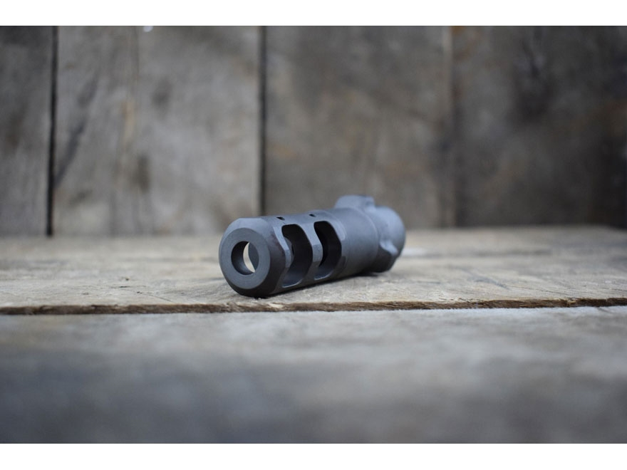 Gemtech Tri-Lug Muzzle Brake Suppressor Mount Arrow QM .338 Lapua Magnum Steel Matte