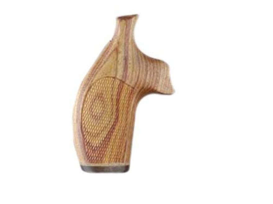 Hogue Fancy Hardwood Grips with Accent Stripe S&W J-Frame Round Butt Checkered