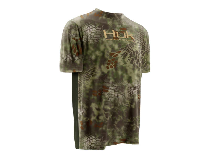 Huk Men's Kryptek Icon Performance Shirt Short Sleeve Polyester