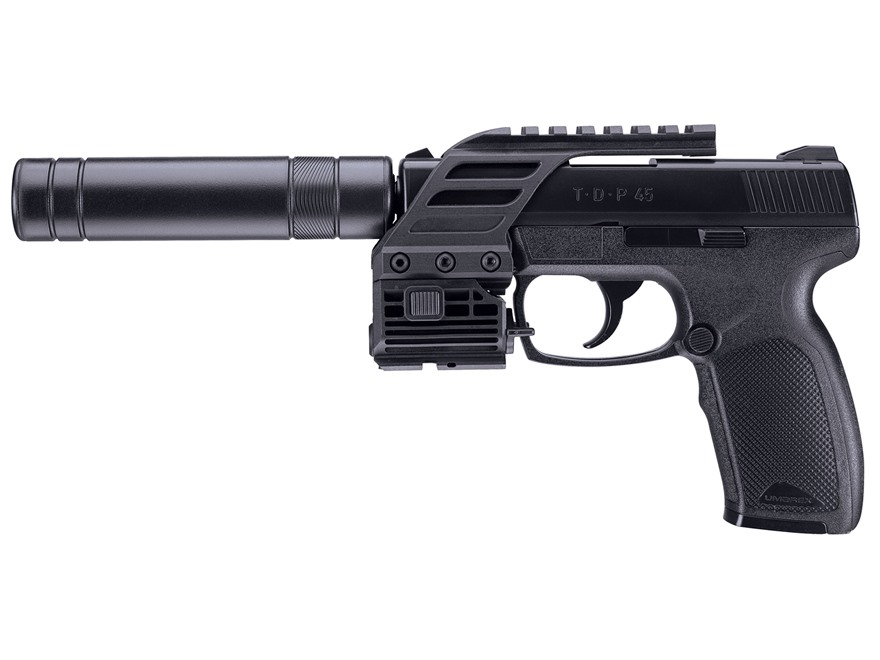 Umarex TDP 45 TAC Air Pistol 177 Caliber BB Black with Picatinny Rail and Red Laser