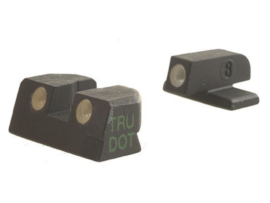 Meprolight Tru-Dot Sight Set Sig P220, P225, P226, P228 Steel Blue Tritium Green Front
