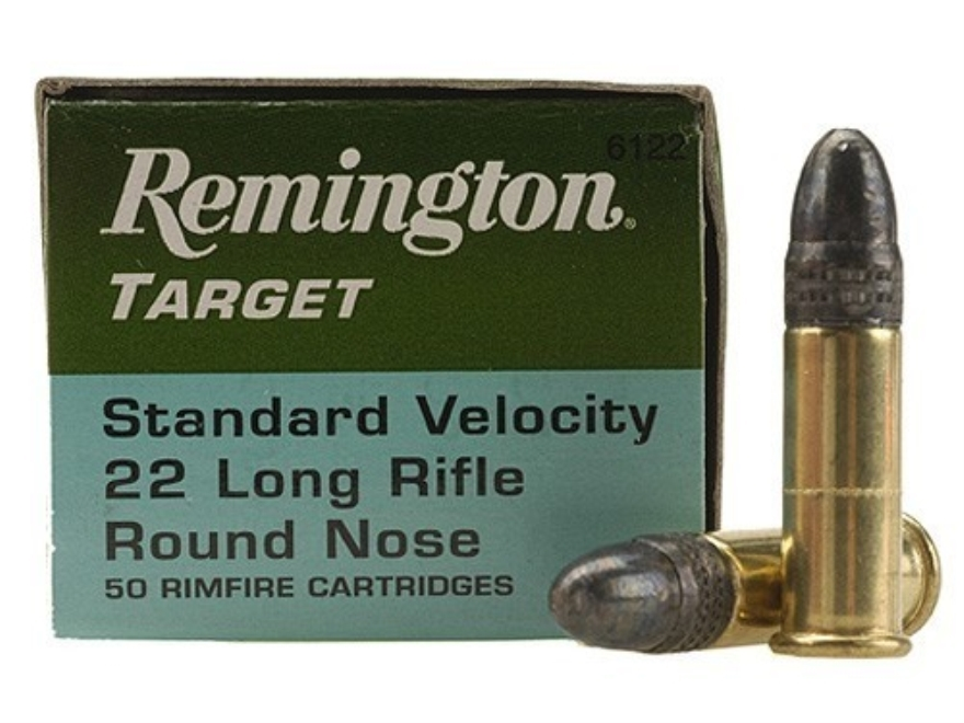 Remington Target Ammunition 22 Long Rifle 40 Grain Lead Round Nose Box of 100