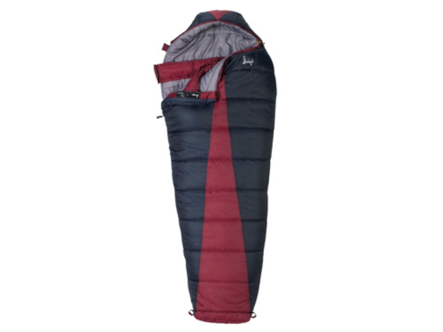 "Slumberjack Latitude 0 Degree Mummy Sleeping Bag 32"" x 82"" Polyester Navy and Red"