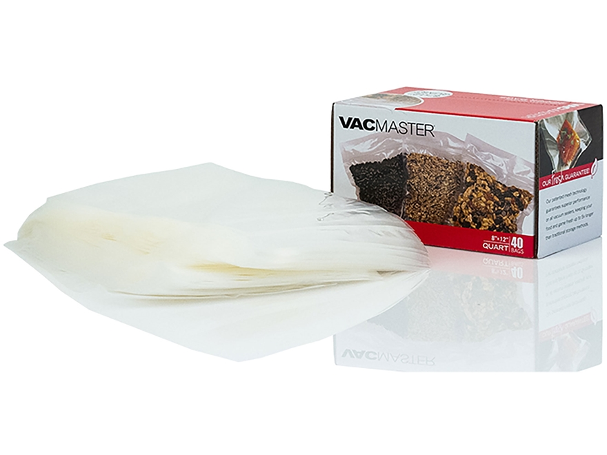 "VacMaster 8"" x 12"" Quart Size Zipper Bag Pack of 40"