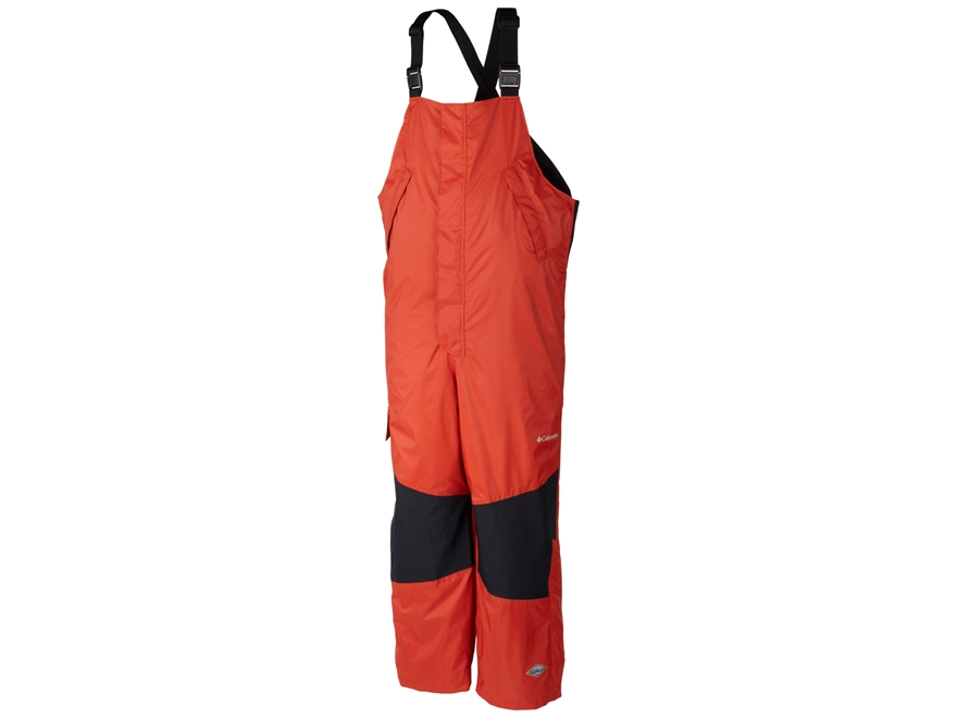 Columbia Men's PFG American Angler Waterproof Rain Bibs Nylon Sail Red