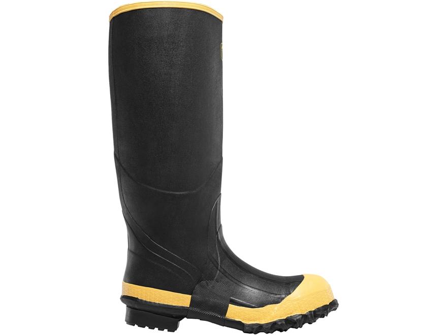 "LaCrosse Premium 16"" Waterproof Uninsulated Steel Toe Knee Boots Rubber Black Men's"
