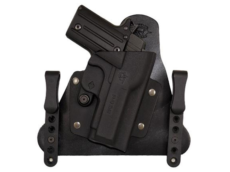 Comp-Tac Cavalry Inside the Waistband Holster Sig P938 Kydex and Leather Black