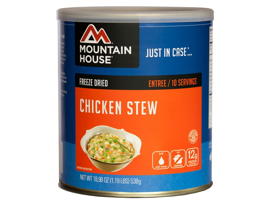 Mountain House 10 Serving Chicken Stew Freeze Dried Food #10 Can