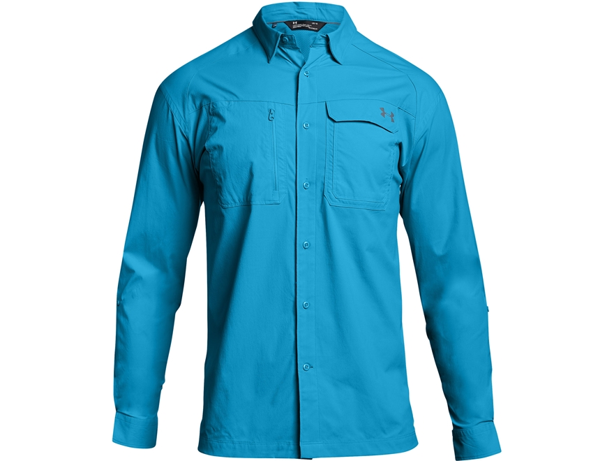 Under Armour Men 39 S Ua Fish Hunter Solid Button Up Upc