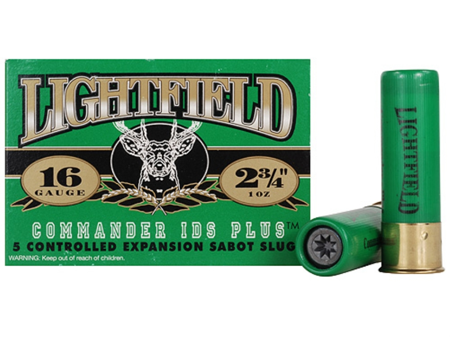 "Lightfield Commander IDS Plus Ammunition 16 Gauge 2-3/4"" 1 oz Sabot Slug Box of 5"