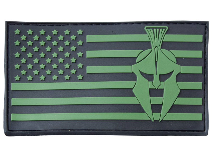 Kryptek American Flag PVC Patch Hook-&-Loop Fastener Green