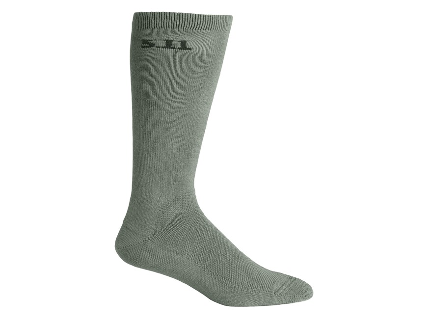 "5.11 Men's Medium Weight 9"" Crew Socks Polymer 3 Pairs"