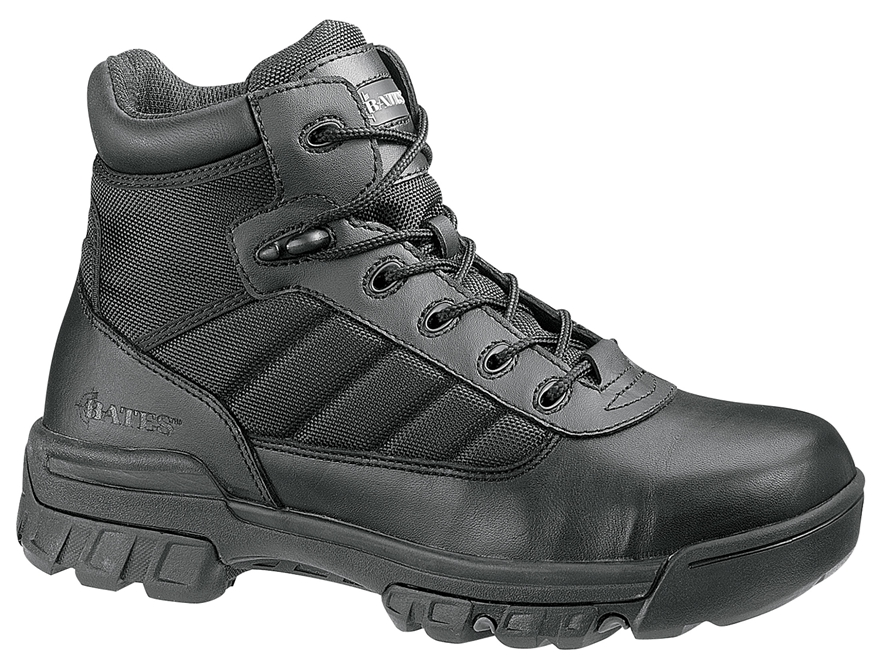 "Bates Tactical Sport 5"" Side-Zip Composite Safety Toe Tactical Boots Leather/Nylon"