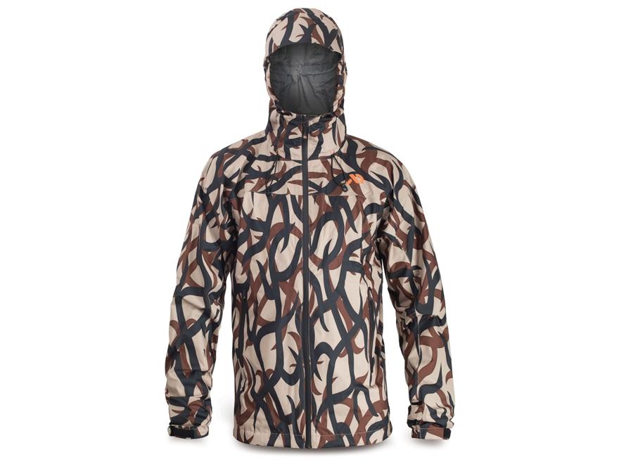 First Lite Men's Vapor Stormlight Rain Jacket Synthetic Blend ASAT Camo XL