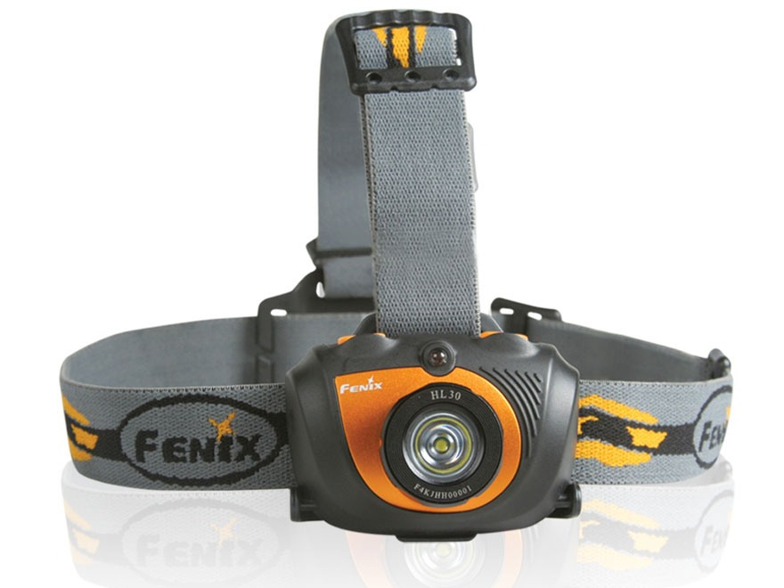 Fenix HL30 Headlamp LED with 2 AA Batteries Aluminum and Polymer Bronze