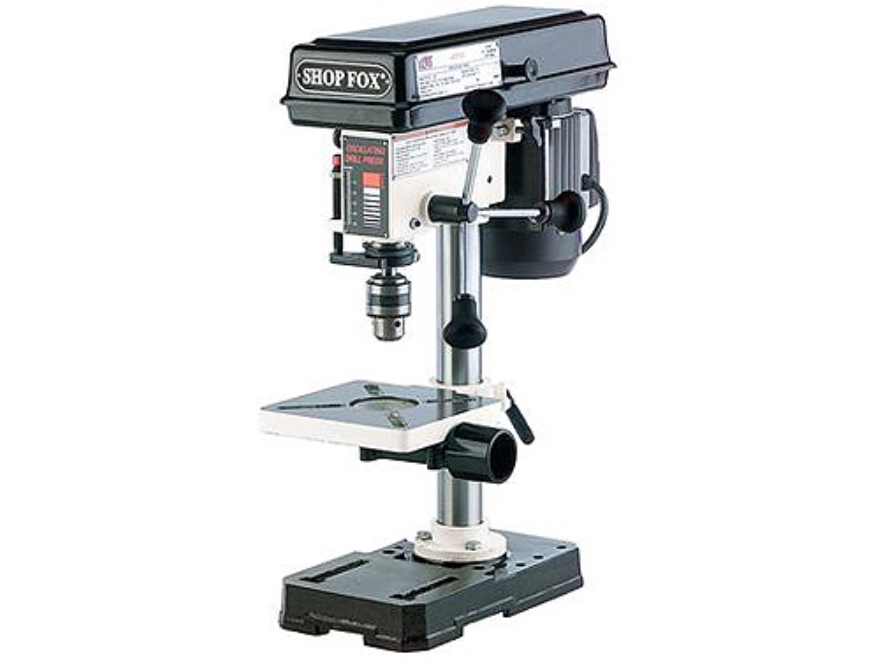Shop Fox 1 2 Hp Bench Top Drill Press Mpn W1667