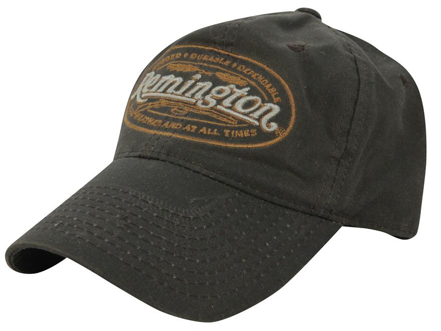Remington Waxed Logo Cap Cotton Brown