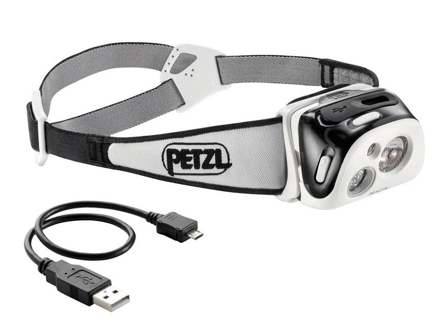 Petzl Reactik Reactive Lighting Headlamp LED with Rechargeable Li-Ion Battery Polymer B...