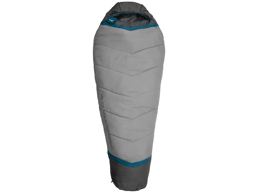 ALPS Mountaineering Blaze Mummy Sleeping Bag Polyester Blue Coral/Coal