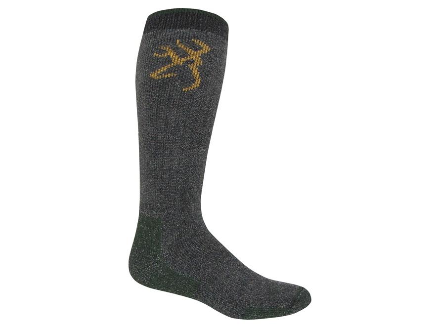 Browning Men's Marl Merino Heavyweight Socks Merino Wool Blend Olive Large (9-13) 1 Pair