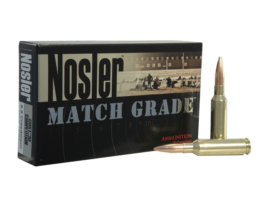 Nosler Match Grade Ammunition 6.5 Creedmoor 140 Grain Custom Competition Hollow Point B...