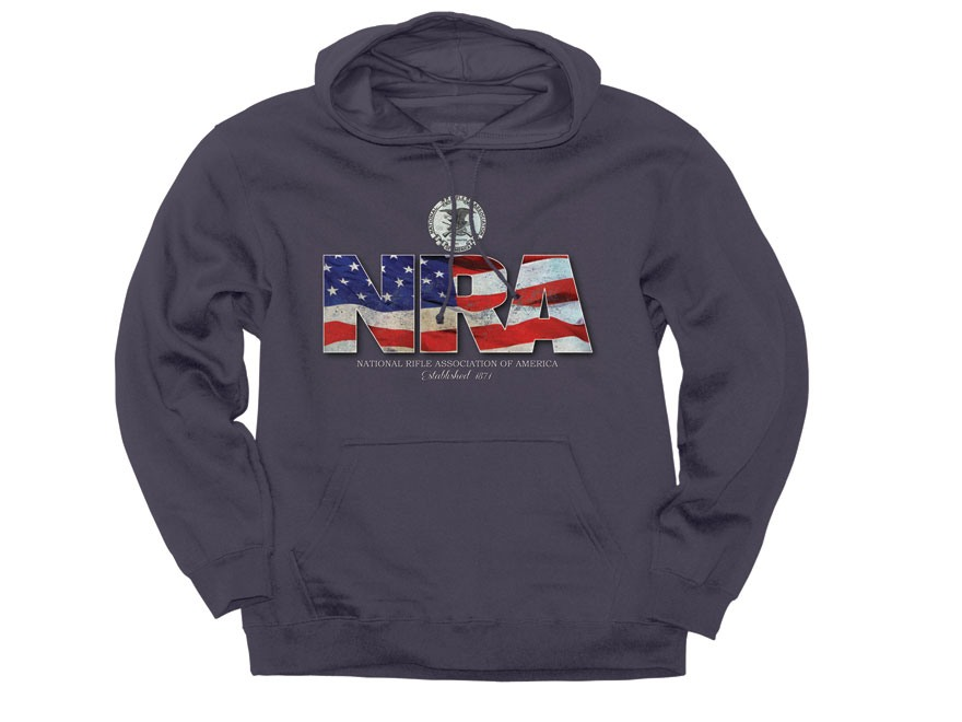 NRA Men's Flag Hooded Sweatshirt