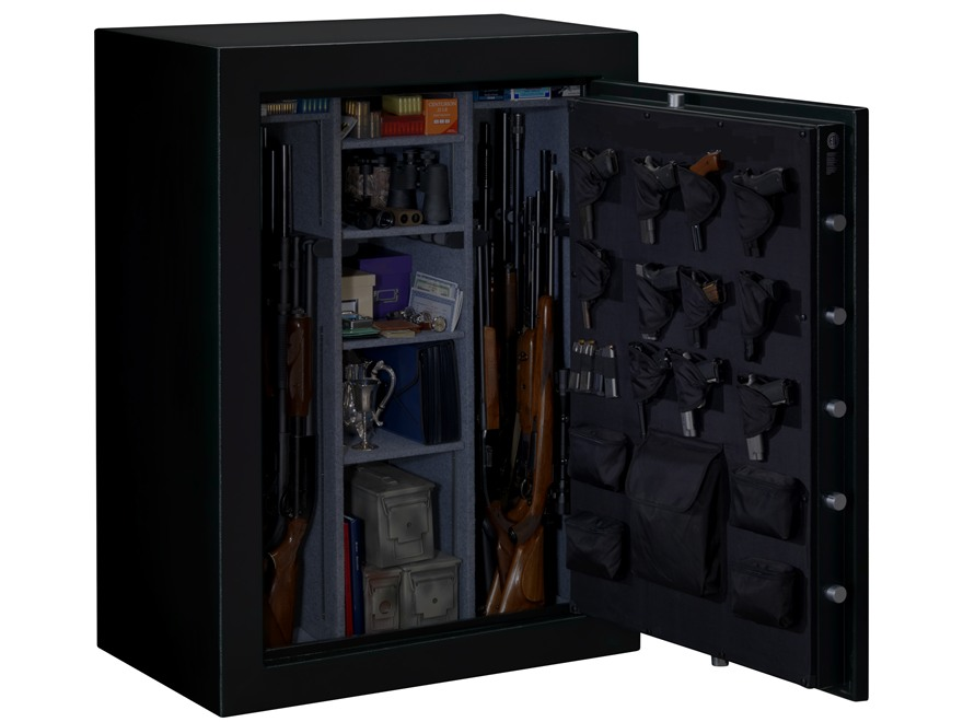 Stack-On Elite Fire-Resistant 48-Gun Safe with Electronic Lock Matte Black with Door St...