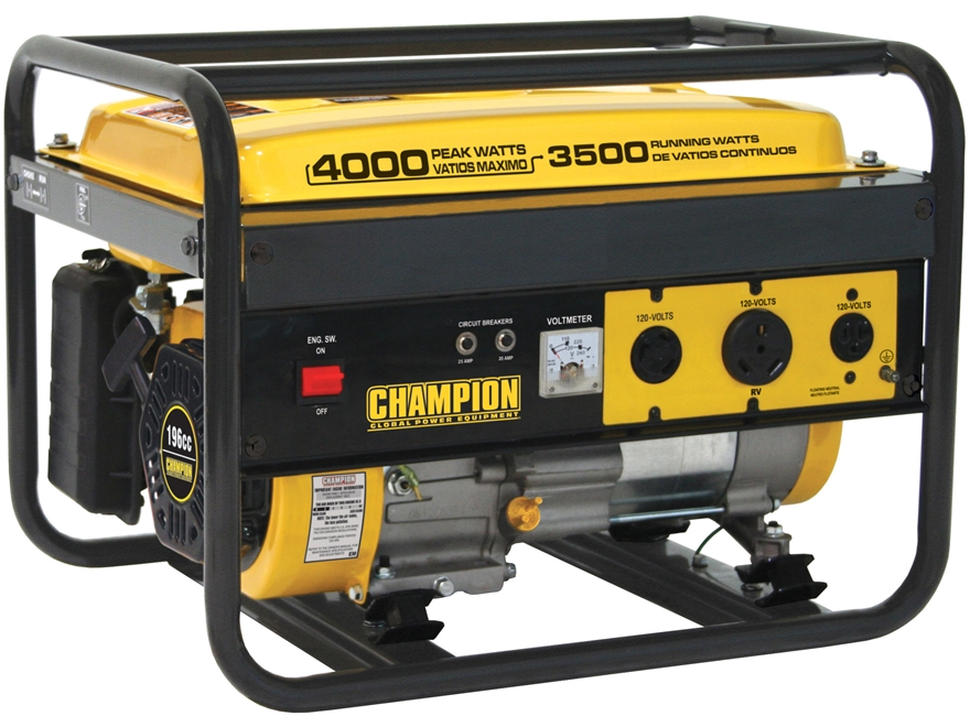 Champion 3500/4000 Watt CARB Compliant Gas Powered Generator
